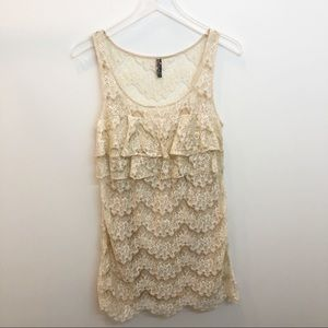 Free People Sheath Lace Dress Size 8 EUC